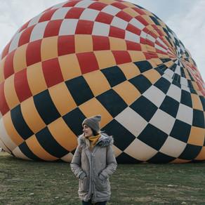 Volar en globo en Segovia, España