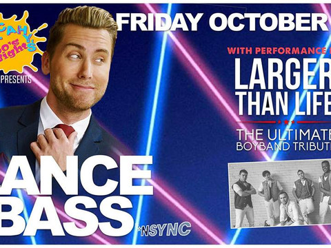 WE ARE SHARING THE STAGE WITH LANCE BASS OF *NSYNC!