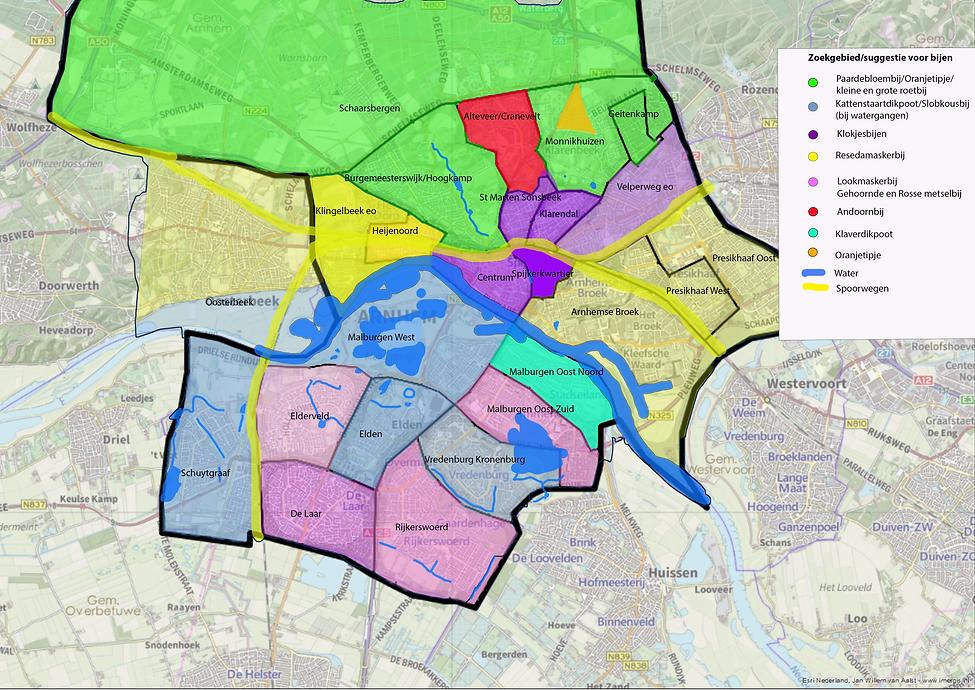 2020-4-5 Kaart met wijken en adoptiebije