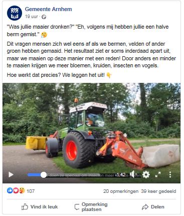 Maaibeheer gemeente Arnhem