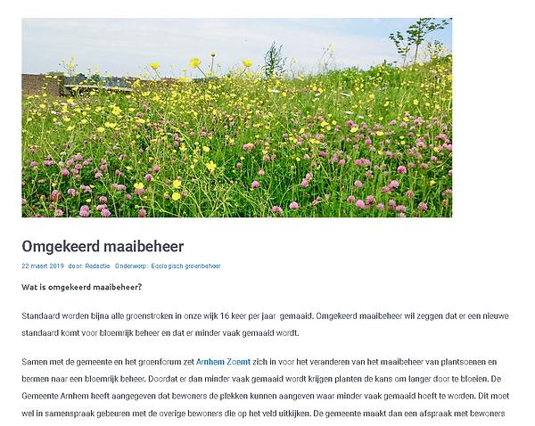 omgekeerd maaibeheer stadseiland malburg