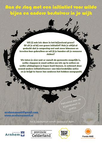 flyer bijeenkomst bloeiende initiatieven