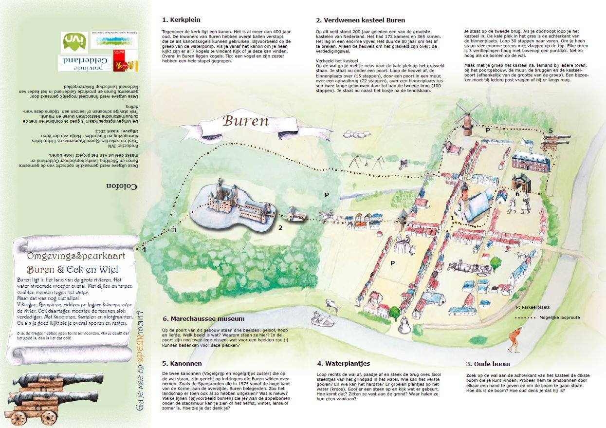 voorkant speurkaart Buren