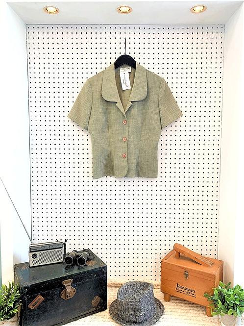 Leslie Belle Short Sleeved Blazer - Size 8/Medium