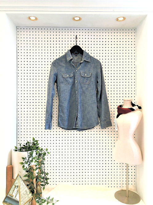 Gap Textured Denim Button Down - Size Extra Small