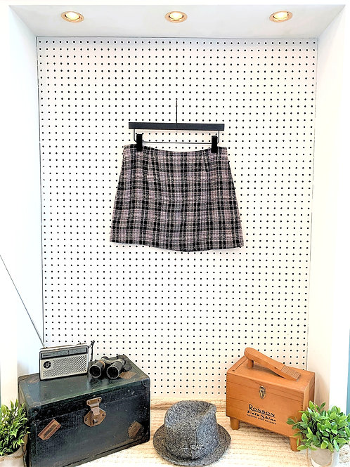 Cool Collection Plaid Mini Skirt - Size 8/10