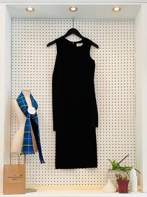 Eliza J Cold Shoulder MIDI Dress - Size Small
