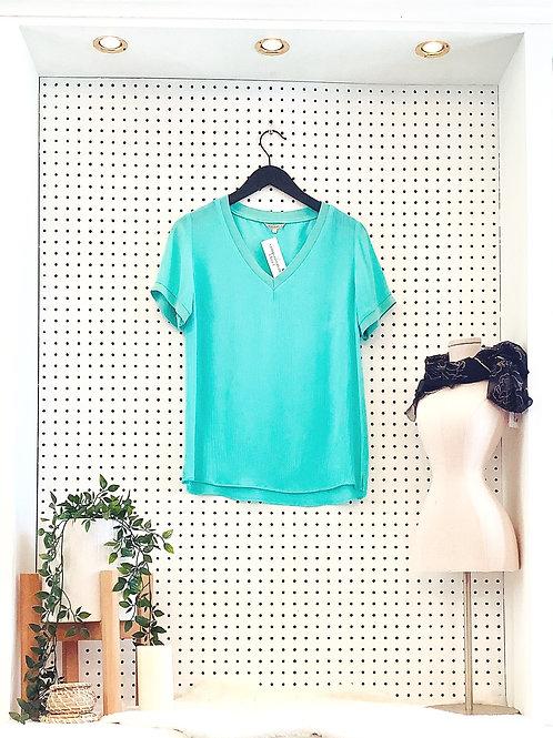 Esqualo Short Sleeved Blouse - Size Small