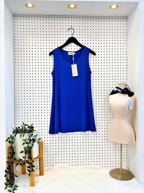 Bamboo by Creation Sleeveless Tunic - Royal Blue