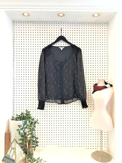 Lauren Conrad Sheer Sleeve and Front Overlay - Size Small