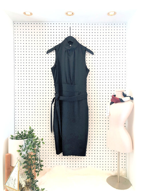 Club Monaco Lightweight Wool Dress with Halter Neck and Open Back - Size 4