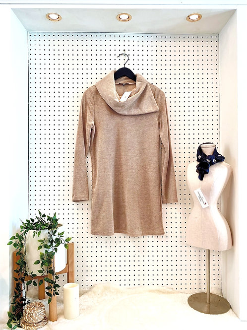 Yest Brand Knit Tunic with Cowl Neck - Size Small