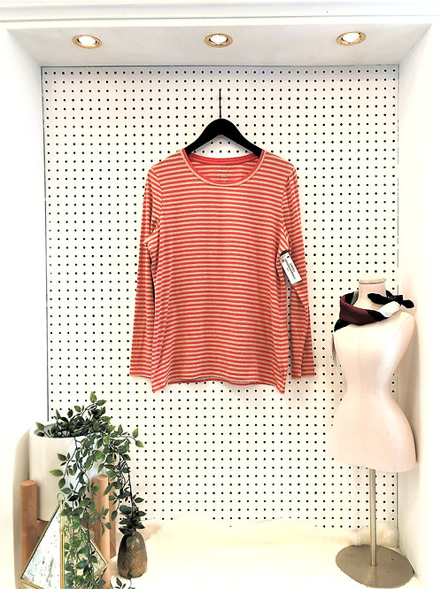 Lord & Taylor Long Sleeve Jersey Knit Tee - Size XL