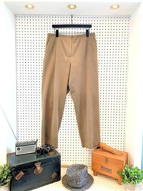 Eileen Fisher Straight Leg Kahaki Pant with Elastic Waist - Size 1X