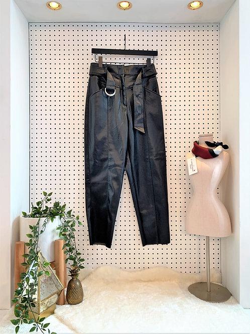 "H&M Vegan ""Leather"" High Waist Pant with Belt, NWT"