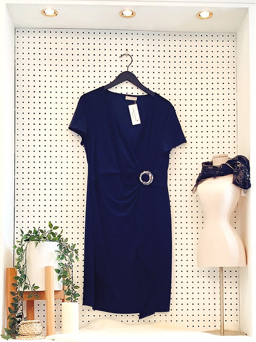 Planet Sheath Dress with ruched waist - Size Large
