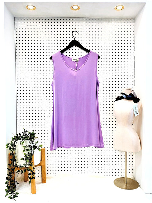 Bamboo by Creation Sleeveless Tunic - Lavender