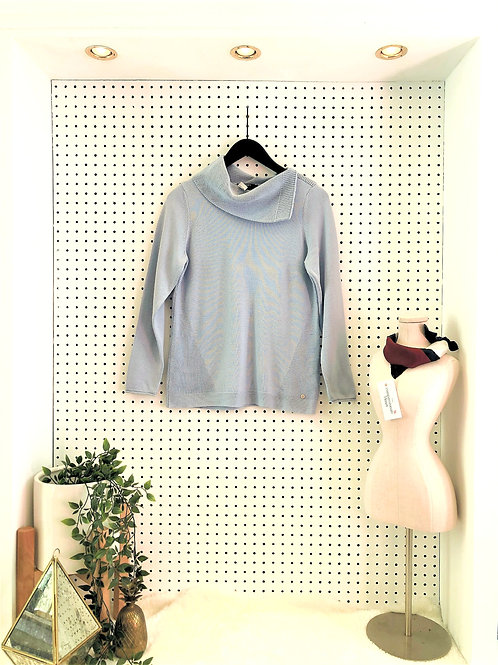 Olsen Europe Cotton Blend Knit Sweater - Size Small