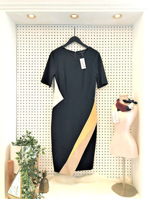 White House/Black Market Dress, With Sleeves - Size 8