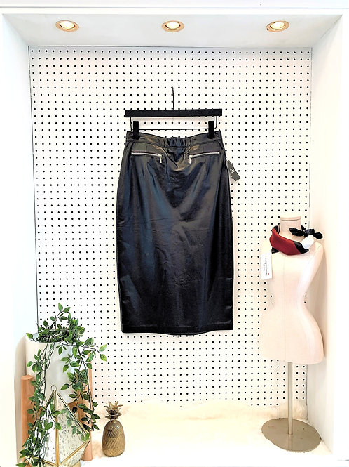 North Bound Leather Midi Skirt