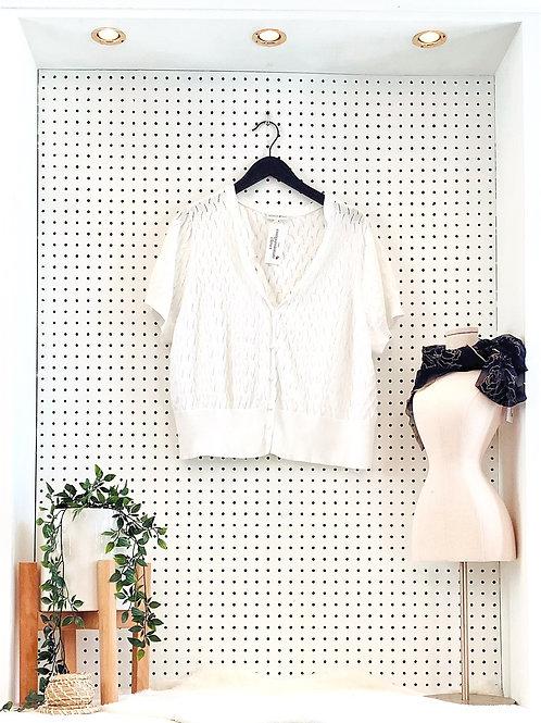 Short Sleeved Knit Cardigan - Size 2X