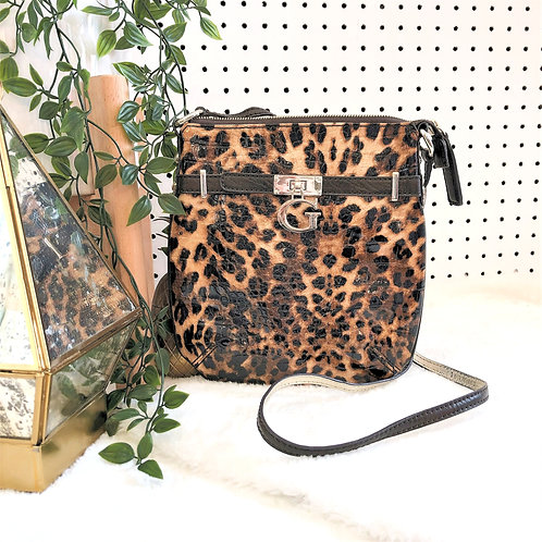 Guess Faux Patent Crossbody Purse with Adjustable strap