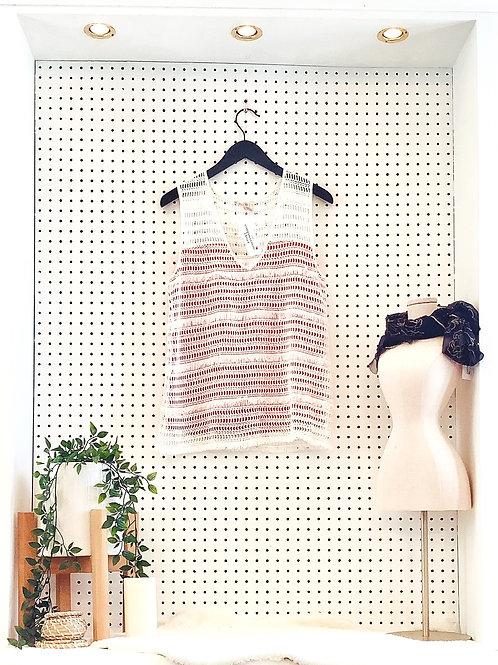 Esqualo Frayed Edge and Crochet Tank - Size Med