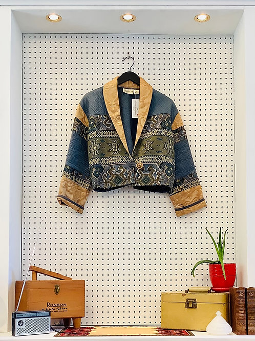 FLASHBACK Cropped Coat - Size Small/Med