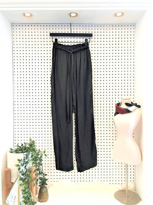 Velvet by Graham & Spencer Wide Leg Tie Waist Pant - Size Extra Small
