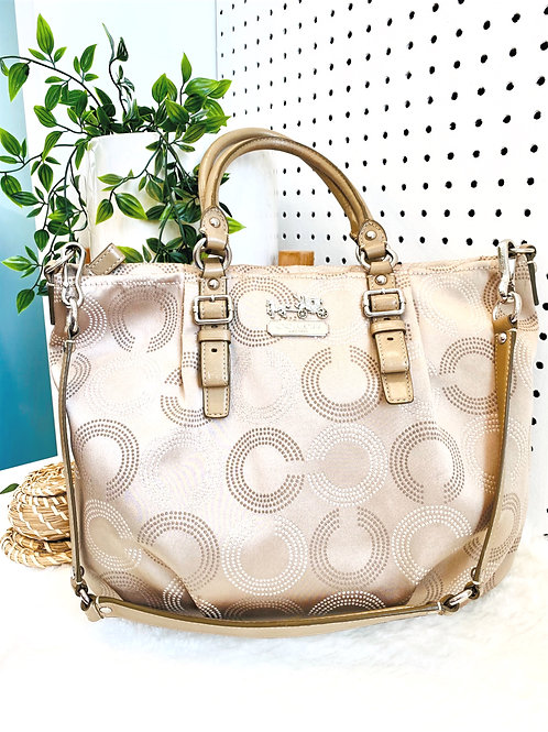 Coach Large Shoulder Bag with Cross Body Strap