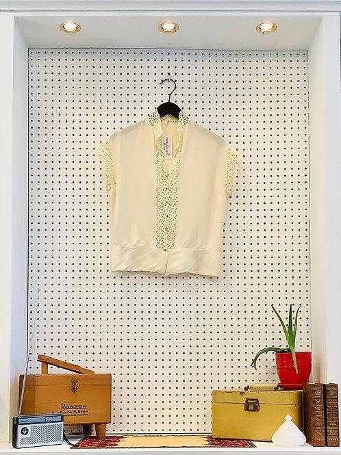 Delicate Vintage Silk Blouse - SizeXS/S