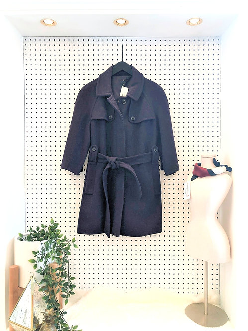 Gap Belted Wool Mid-Length Coat, 3/4 Length Sleeve - Size Medium