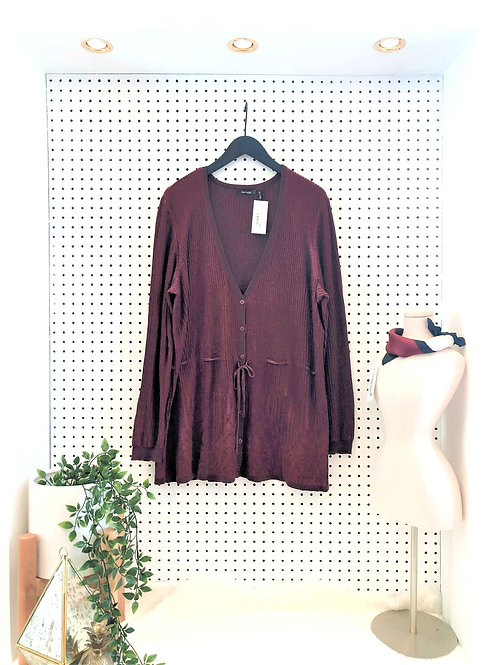 Daisy Fuentes Belted Cardigan - Size 2X
