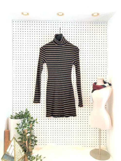 BDG Cotton Ribbed Turtleneck Dress - Size Medium