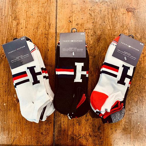 Tommy Hilfiger 6 pack Men's Cushion Sole Ankle Socks - Fits Size 7-12