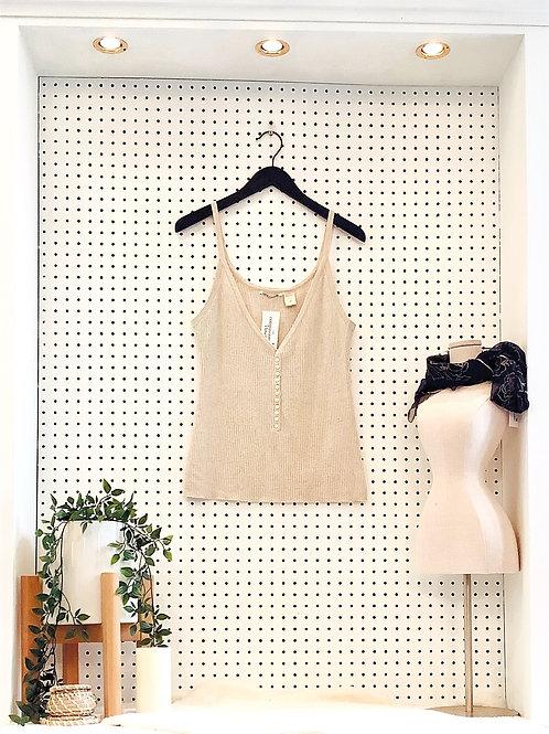 Lucky Brand Cashmere&Silk Ribbed Tank - SizeMedium