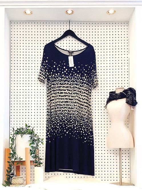 Olsen Europe Jersey Knit Midi Length Dress - Size Large