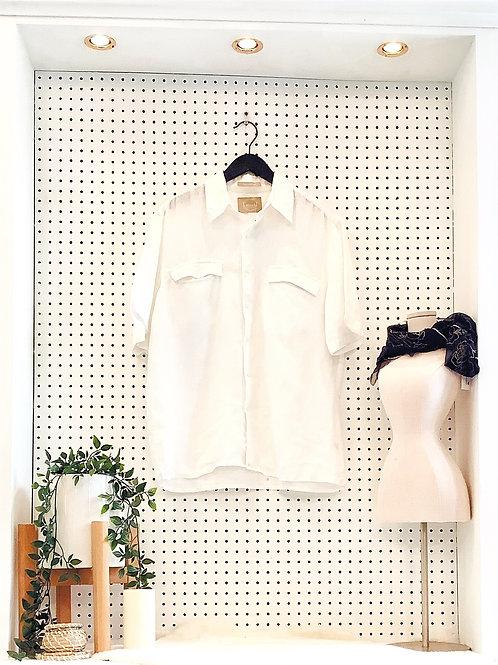 100% Washable Linen Blouse - Size L/XL
