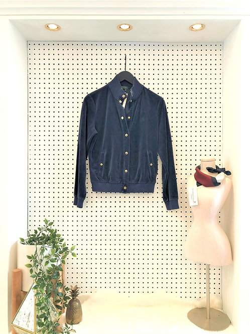 Ralph By Ralph Lauren Velour Jacket, Snap up front - Size Medium