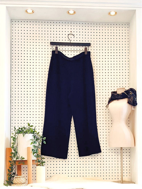 St. John Collection Navy Knit Gaucho Pants - Size 12