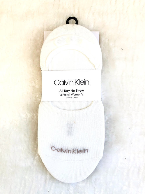 Calvin Klein All Day No Show Socks - New With Tags - Cream/Beige