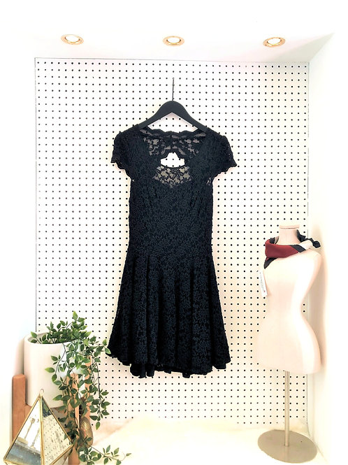 Guess Fit and Flare Dress with Partial Open Back - Size Medium