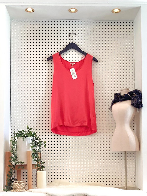 Esqualo Satin and Jersey Knit Tank - Size Small
