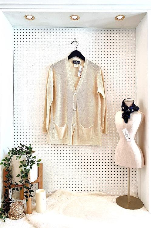 Les Copains Chasmere/Silk Blend Cardigan - Size Large