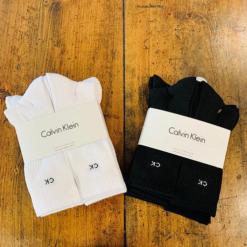 Men's Calvin Klein Cushion Sole Tube Socks 6 Pack - Size 7-12