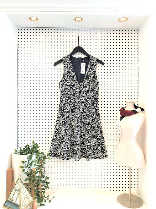 Lord&Taylor Design Lab Fit and Flare Dress with Cut Out Neckline-Size Medium