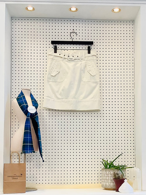 Vero Moda Khaki Skirt with Belt - Size 4/6