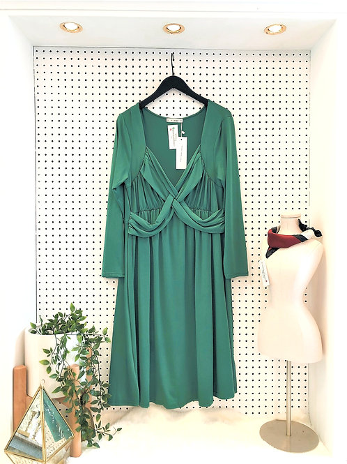 RoseGal Jersey Knit Long Sleeve Dress - Size 1X