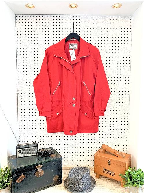 80's/90's Fen-Nelli Cotton Blend Jacket With Drawstring Waist - Size Large