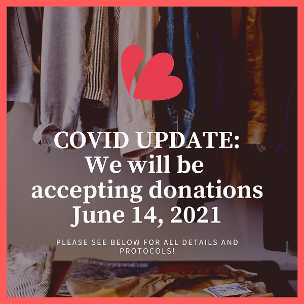 We will be accepting donations again May